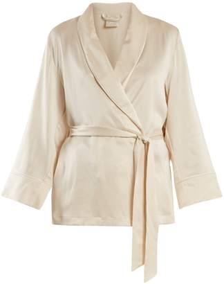 MORPHO + LUNA Amelie sandwashed-silk short robe