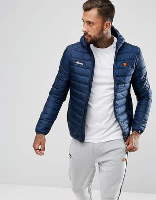 Ellesse Padded Jacket With Hood In Navy