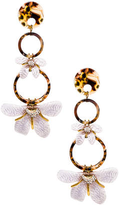 Lele Sadoughi Trumpet Lily Earrings