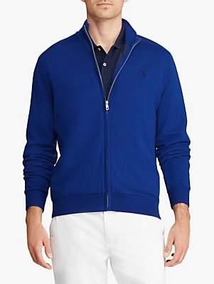 Ralph Lauren Polo Golf by Merino Wool Full Zip Jumper, Sporting Royal