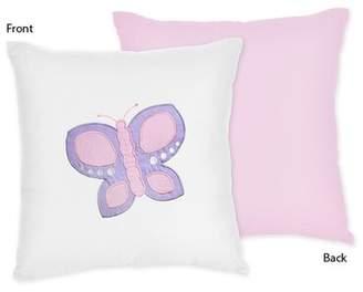 JoJo Designs Sweet Butterfly Cotton Throw Pillow Sweet
