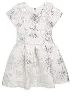 Zoe Girl's Rose Brocade Dress