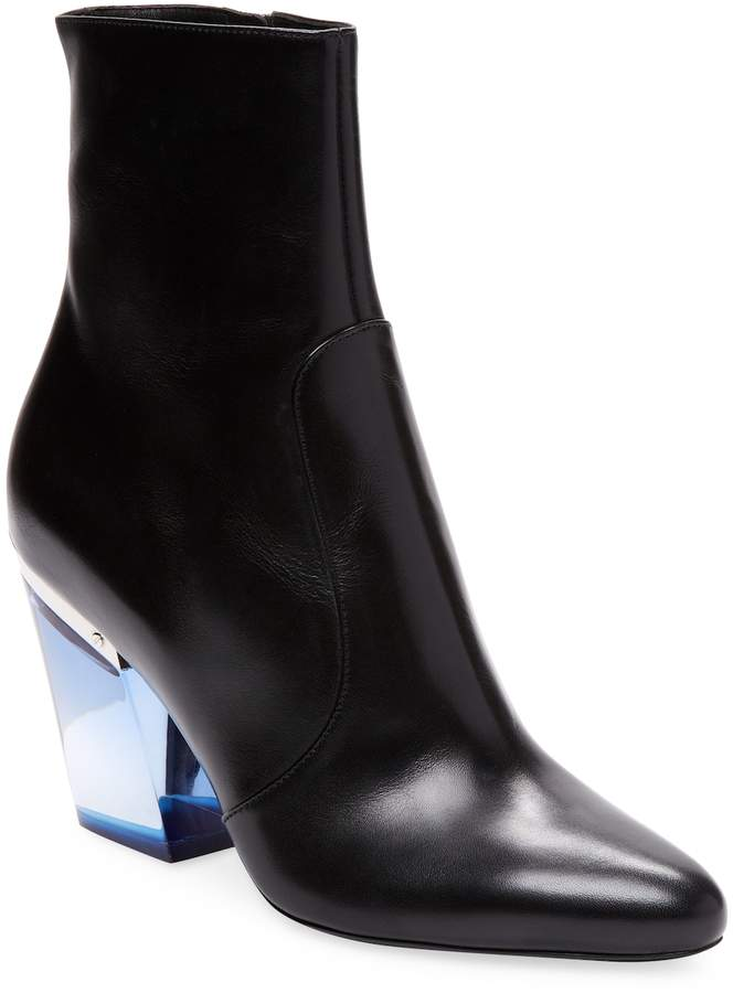 Dior Women's Leather Block Heel Boots