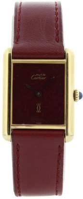 Cartier Tank Vermeil silver gilt watch