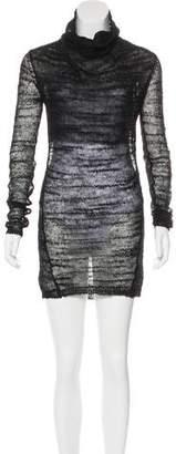 Helmut Lang Sheer Knit Mini Dress