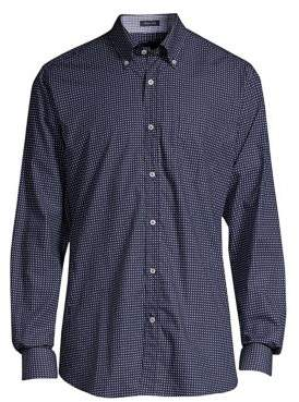 Paul & Shark Dot Button-Collar Sport Shirt