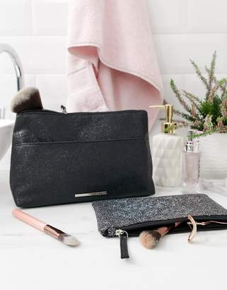 French Connection glitter toiletry bag