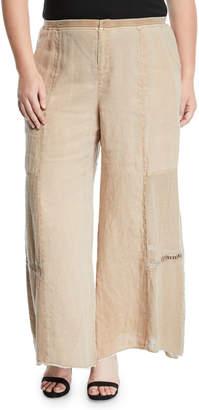 XCVI Hansel Paneled Wide-Leg Pants, Plus Size