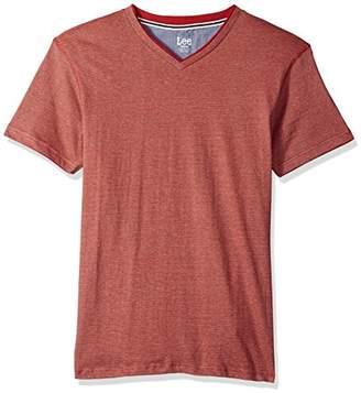 Lee Men's Short Sleeve Stripe Fashion Vneck