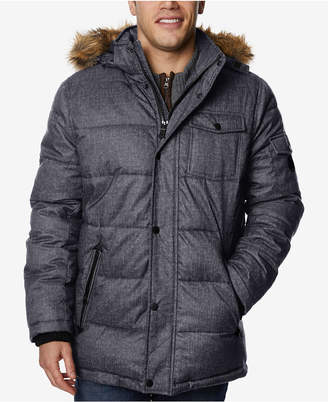 Nautica Men Quilted Hooded Parka