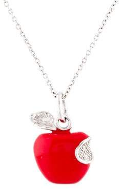 Roberto Coin 18K Diamond & Enamel Apple Pendant Necklace