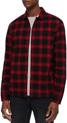 AllSaints Clyde Checked Slim Fit Button-Down Shirt