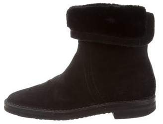 Jimmy Choo Shearling Suede Ankle Boots