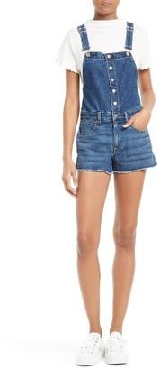 Women's Rag & Bone/jean Lou Denim Short Overalls $295 thestylecure.com