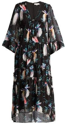 Borgo De Nor - Idris Chiffon Maxi Dress - Womens - Black Print