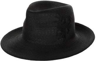 Philip Treacy Logo Embroidered Fedora Hat