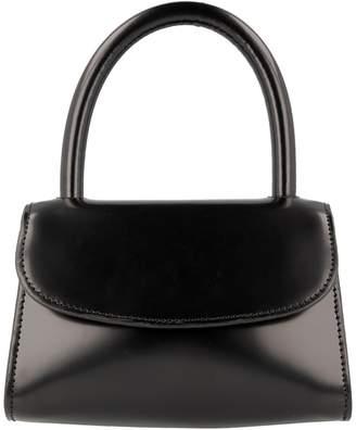 BY FAR Mini Semi-Patent Leather Top Handle Bag