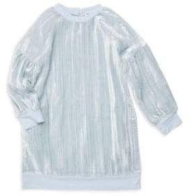 Splendid Little Girl's Crinkle Velvet Sweatshirt Dress
