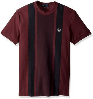 Fred Perry Men's Stripe Front Pique T-Shirt