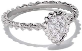 Boucheron 18kt white gold Diamond Serpent Bohème XS ring
