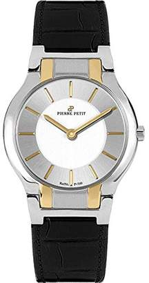 Pierre Petit Women's P-799C Serie Laval Two-Tone Stainless-Steel Case Black Leather Watch