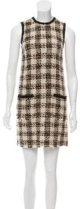 Dolce & Gabbana Tweed Shift Dress Beige Tweed Shift Dress