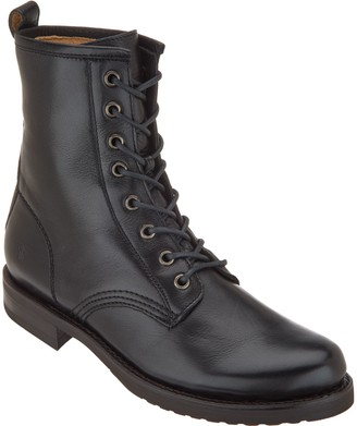 Frye Leather Lace-up Boots - Veronica Combat