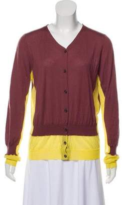 Marni Colorblock Cashmere Cardigan