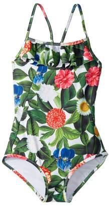 Oscar de la Renta Childrenswear Flower Jungle Ruffle Swimsuit Girl's Swimsuits One Piece