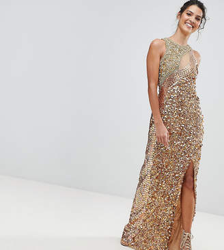 A Star Is Born Three Tone Maxi Dress with Fishtail