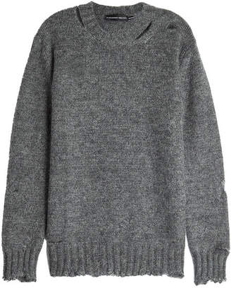 Alexander McQueen Distressed Mohair and Silk Pullover