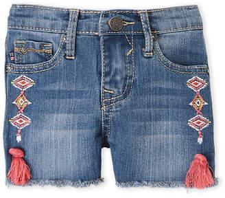 Vigoss Toddler Girls) Boho Embroidered Tassel Denim Shorts