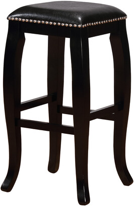 Linon Scottish Black Square Top Bar Stool