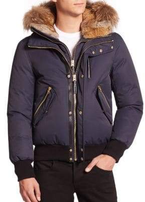 Mackage Dixon Lux Fur-Trim Down Bomber Jacket