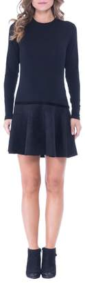 Olian Faux Suede Skirt Maternity Skater Dress