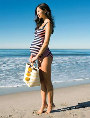 Motherhood Maternity Ruched Two Piece Maternity Tankini Swimsuit