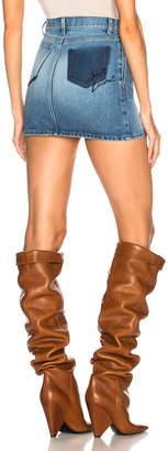 Saint Laurent Classic Loulou Denim Mini Skirt