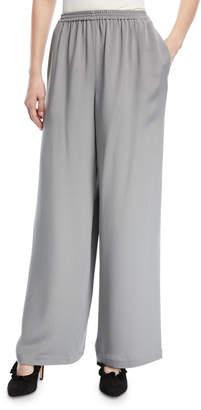 eskandar Flared Silk Trousers