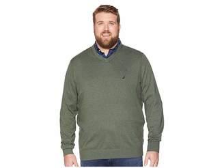Nautica Big Tall Jersey V-Neck Sweater