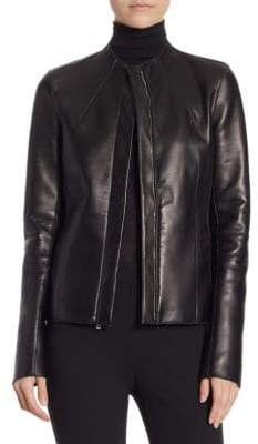 Theory Sculpted Leather Jacket