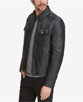 Andrew Marc Men's Four-Pocket Faux-Leather Jacket