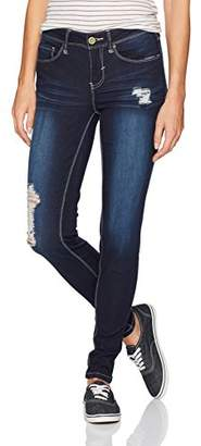 YMI Jeanswear Women's Luxe Basic Destructed Midrise Skinny