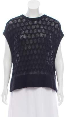Helmut Lang Mohair Crop Sweater