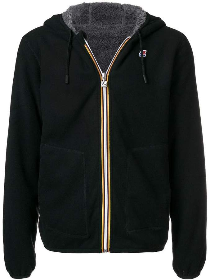 K-Way short hooded jacket
