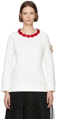 Simone Rocha Moncler Genius 4 Moncler White Necklace Sweatshirt