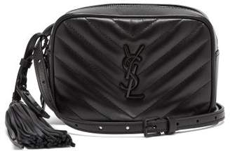 Saint Laurent Lou Chevron Quilted Leather Belt Bag - Womens - Black