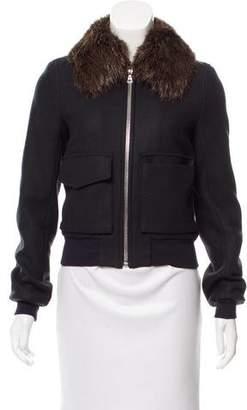 ADAM by Adam Lippes Fur-Trimmed Wool Jacket