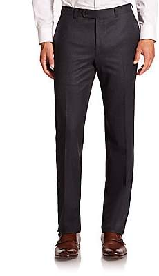 Saks Fifth Avenue Men's COLLECTION Wool Flat-Front Pants