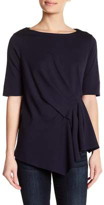 Gibson Pleat Detail Elbow Sleeve Top