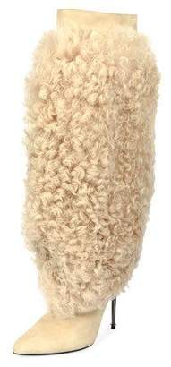 Tom Ford Curly Shearling Fur Knee Boot